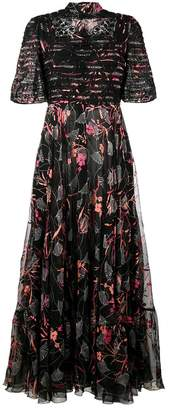 Valentino floral print gown