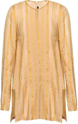 Kitx Striped Silk-blend Crepe De Chine Tunic