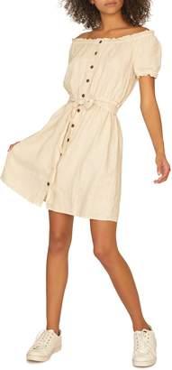 Sanctuary Washed Linen Off the Shoulder Peasant Dress