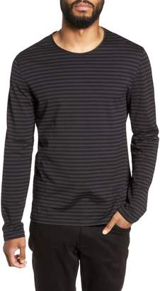 Vince Double Stripe Long Sleeve T-Shirt