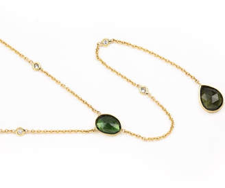 Jacquie Aiche Tourmaline Diamond Necklace