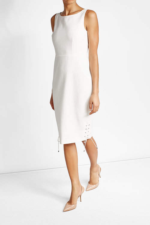 Max Mara Max Mara Cotton Dress with Lace-Up Detail