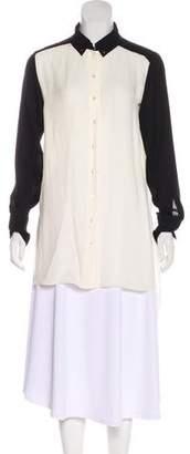 Marissa Webb Silk Button-Up Blouse