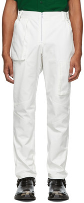 Spencer Badu White Twill Cargo Pants