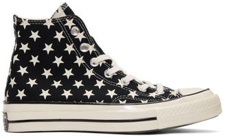 Converse Black and White Chuck 70 Archive Restructured High Top Sneakers