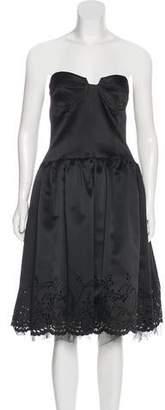 ABS by Allen Schwartz Strapless Satin Dress