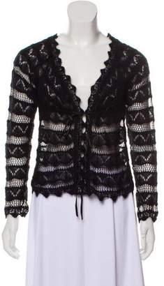 Ungaro Long Sleeve Open Front Cardigan