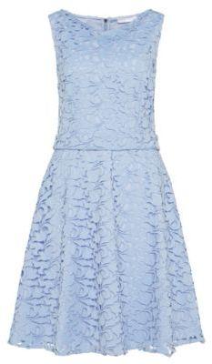 Hugo Boss Dyferana Sleeveless Dress 8 Turquoise $745 thestylecure.com