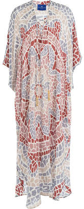 Elena Makri Printed Silk Maxi-Length Tunic