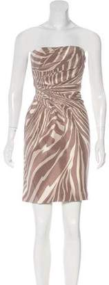 Gucci Strapless Knee-Length Dress