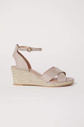 H&M Wedge-heel Sandals - Brown