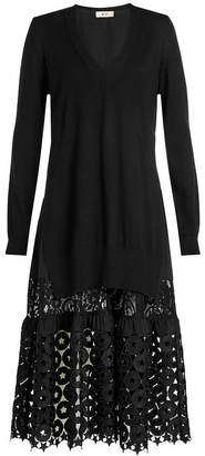 N°21 N21 Wool Dress with Cut-Out Pattern