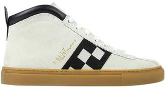 Bally White Suede Trainers