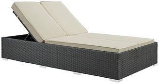 One Kings Lane Hayden Double Chaise - Gray/Beige