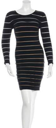 Balmain Striped Bodycon Dress