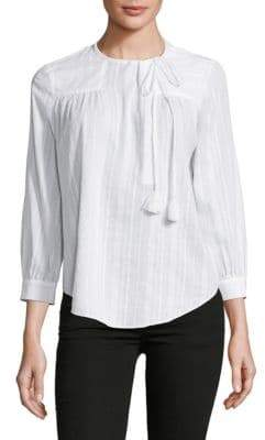 Derek Lam 10 Crosby Shirred Cotton Blouse