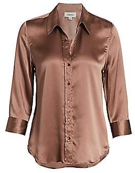 L'Agence Women's Dani Silk Three-Quarter Sleeve Blouse