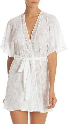 In Bloom Jacquard Floral Crinkled Wrap Robe