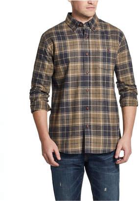 Weatherproof Vintage Men Brushed Flannel Plaid Shirt
