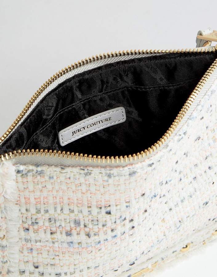Juicy Couture Tweed Zip Top Pouch
