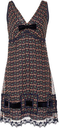 Anna Sui Blooms Crinkle Chiffon Dress