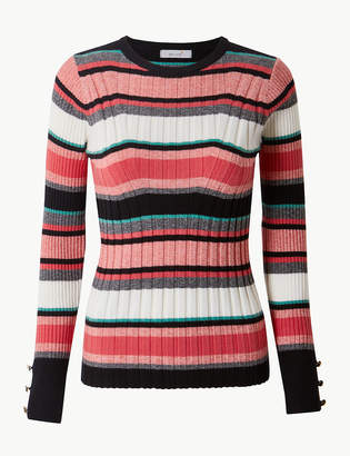 Marks and Spencer Striped Round Neck Jumper