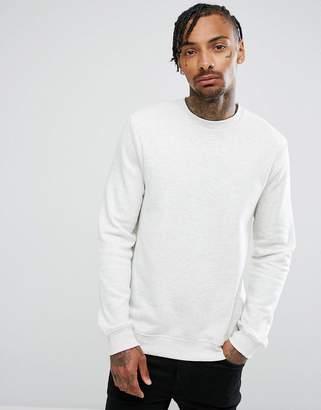 New Look Sweatshirt With Crew Neck In Ecru