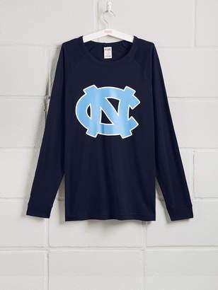 PINK University of North Carolina Long Sleeve Grommet Campus Tee