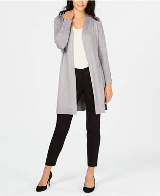 JM Collection Lace-Up-Sleeve Metallic Cardigan, Created for Macy's