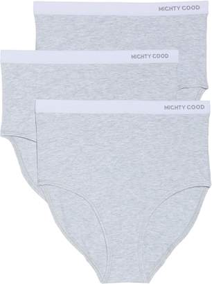 MIGHTY GOOD UNDIES 3-Pack Stretch Organic Cotton High Waist Briefs