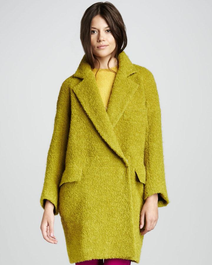 Diane von Furstenberg Laurel Oversized Boucle Coat