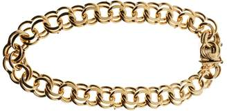 14K Yellow Gold Double Spiral Heavy Link Charm Bracelet
