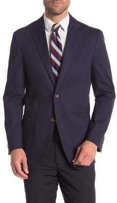 FLYNT Navy Two Button Notch Lapel Classic Fit Blazer