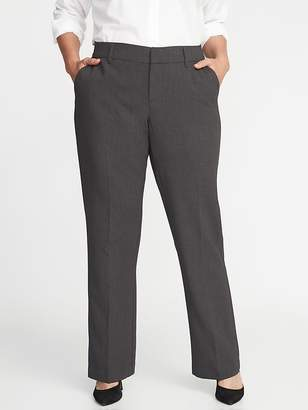 Old Navy Mid-Rise Secret-Slim Pockets + Waistband Plus-Size Double-Weave Harper Trousers