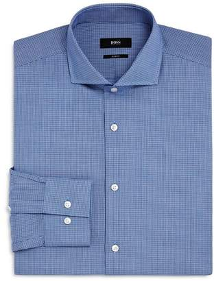 BOSS Micro Check Slim Fit Dress Shirt