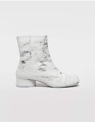 Maison Margiela Tabi Paint Leather Boots