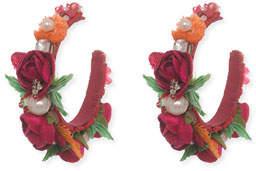 Ranjana Khan Evelyn-D Floral Hoop Earrings