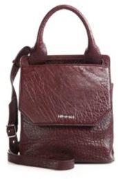 McQ Alexander McQueen Mini Ruin Pebbled Leather Crossbody Bag $655 thestylecure.com