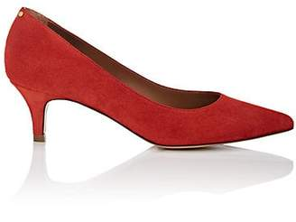 Jerome Dreyfuss WOMEN'S SUEDE POINTED-TOE PUMPS - RED SIZE 6
