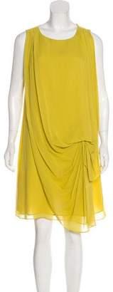 Halston Silk Sleeveless Dress
