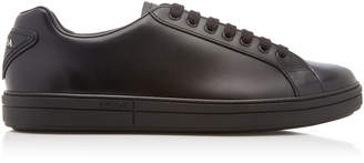 Prada Vitello Plume Low-Top Leather Sneakers