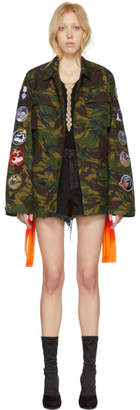 Off-White Green Camo Field Jacket