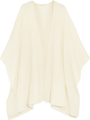 MICHAEL Michael Kors - Merino Wool And Cashmere-blend Poncho - Cream $485 thestylecure.com