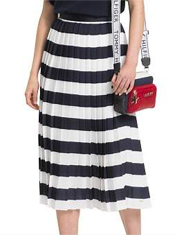Tommy Hilfiger Rose Pleated Midi Skirt