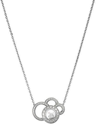 Chopard Chopard Happy Dreams Necklace with Diamonds in 18K White Gold