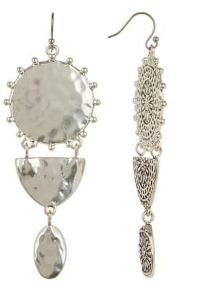 Lucky Brand Textured Medallion Multi-Drop Earrings
