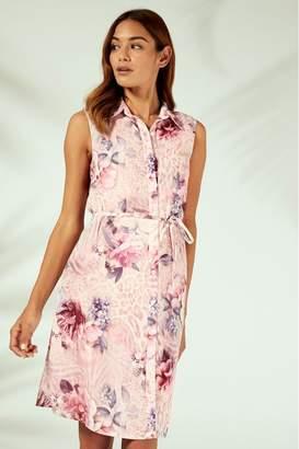 Lipsy Shirt Beach Dress - 6 - Pink