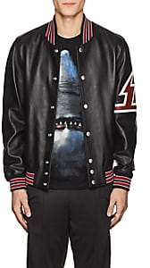 Givenchy Men's Leather Varsity Jacket-Black