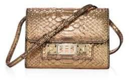 Proenza Schouler PS11 Metallic Python-Embossed Leather Crossbody Wallet
