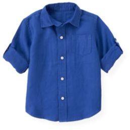 Janie and Jack Linen Roll Cuff Shirt